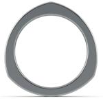 Rocker (European) Wedding Ring in White Gold (3.5mm) | Thumbnail 04