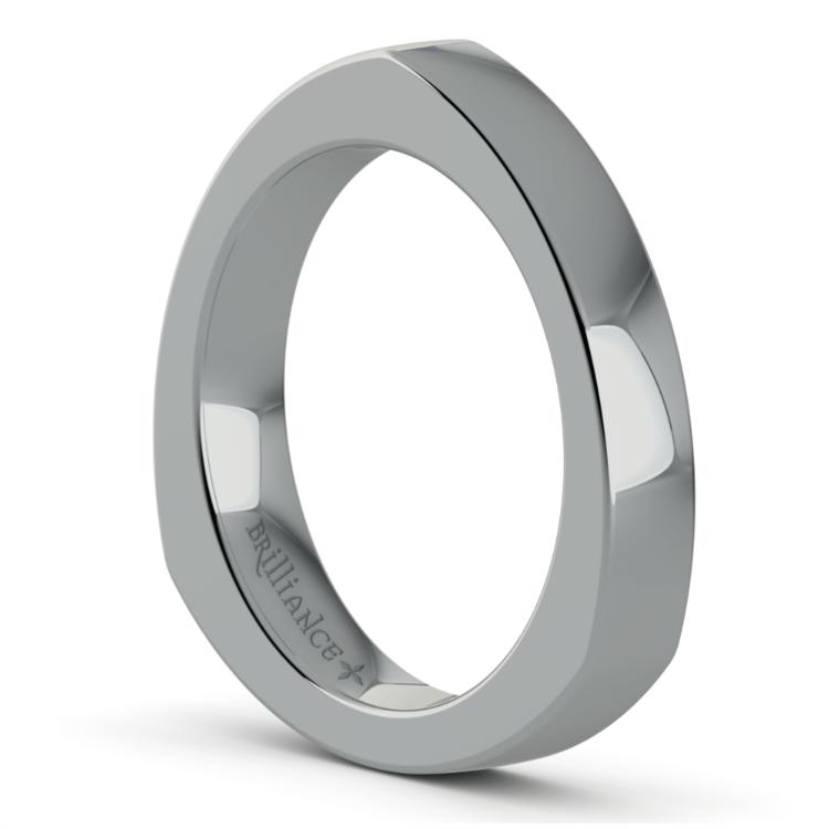 Rocker (European) Wedding Ring in White Gold (3.5mm) | 02