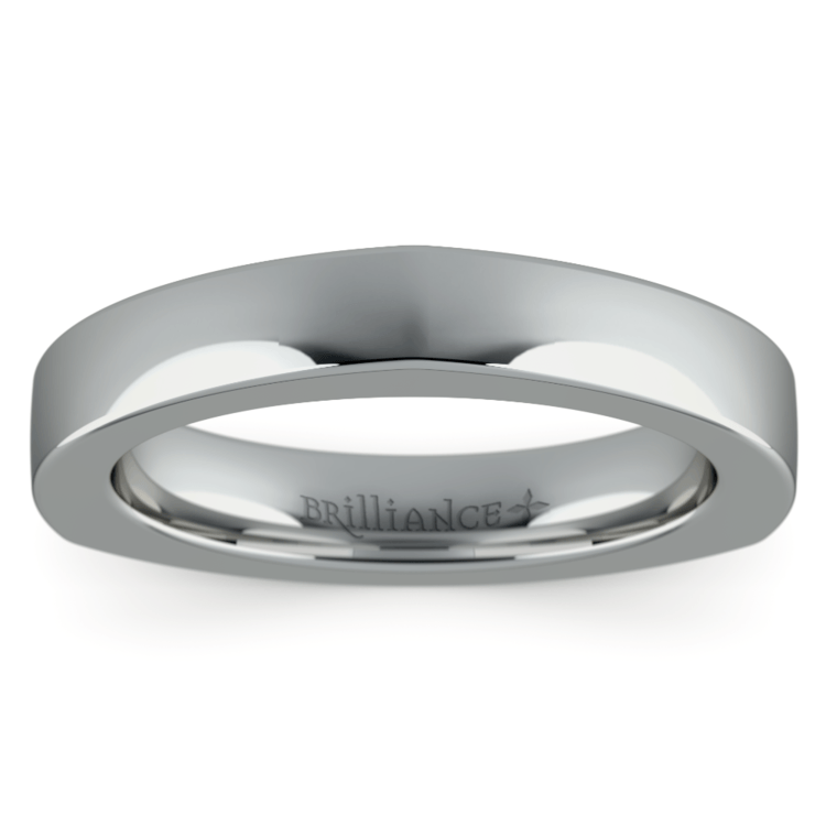 Rocker (European) Wedding Ring in White Gold (3.5mm) | 03