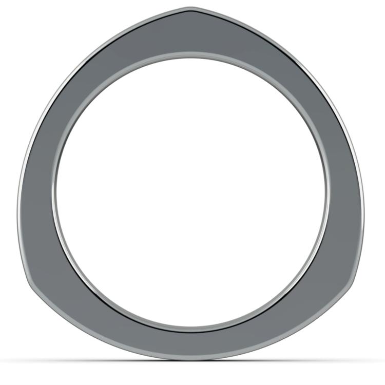 Rocker (European) Wedding Ring in White Gold (3.5mm) | 04