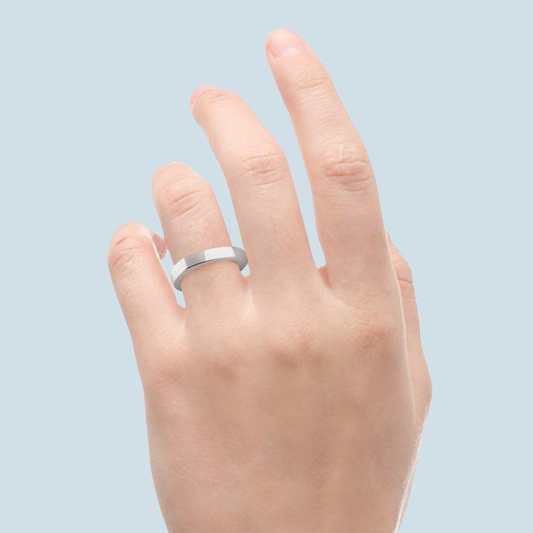 Rocker (European) Wedding Ring in White Gold (3.5mm) | 06