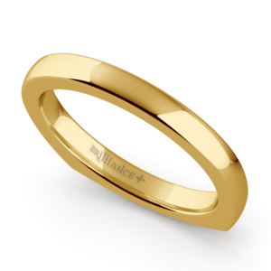 Rocker (European) Wedding Ring in Yellow Gold (2.5mm)