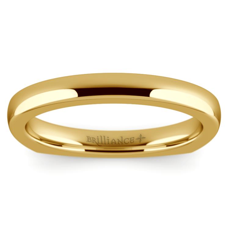 Rocker European Wedding Ring In Yellow Gold 2 5mm 02