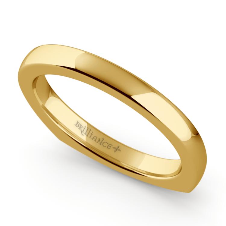 Rocker (European) Wedding Ring in Yellow Gold (2.5mm) | 01
