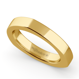 Rocker Wedding Ring in Yellow Gold (3.5mm)