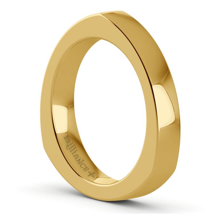 Rocker Wedding Ring in Yellow Gold (3.5mm) | 04
