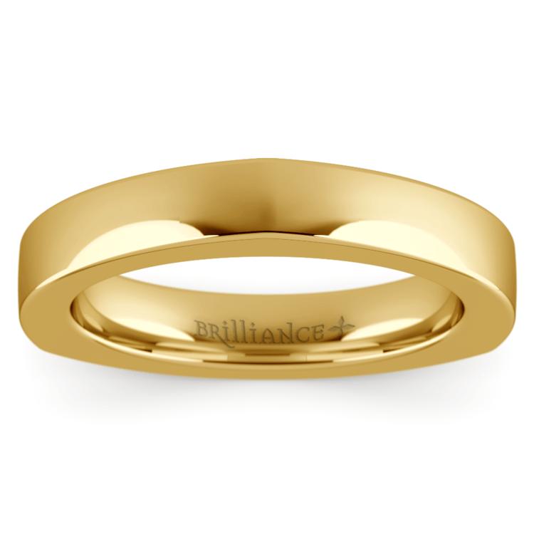 Rocker Wedding Ring in Yellow Gold (3.5mm) | 02