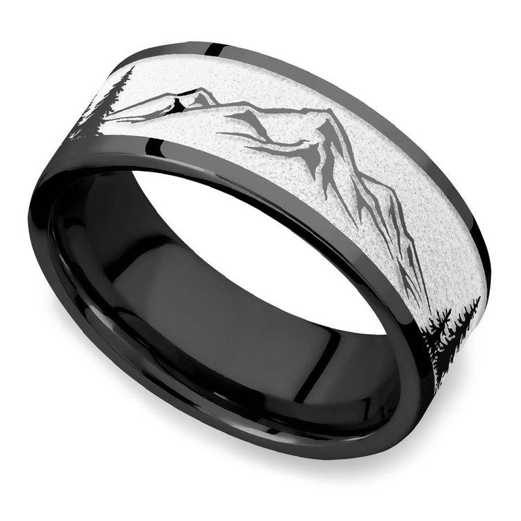 The Rockies - Zirconium Mens Ring | 01