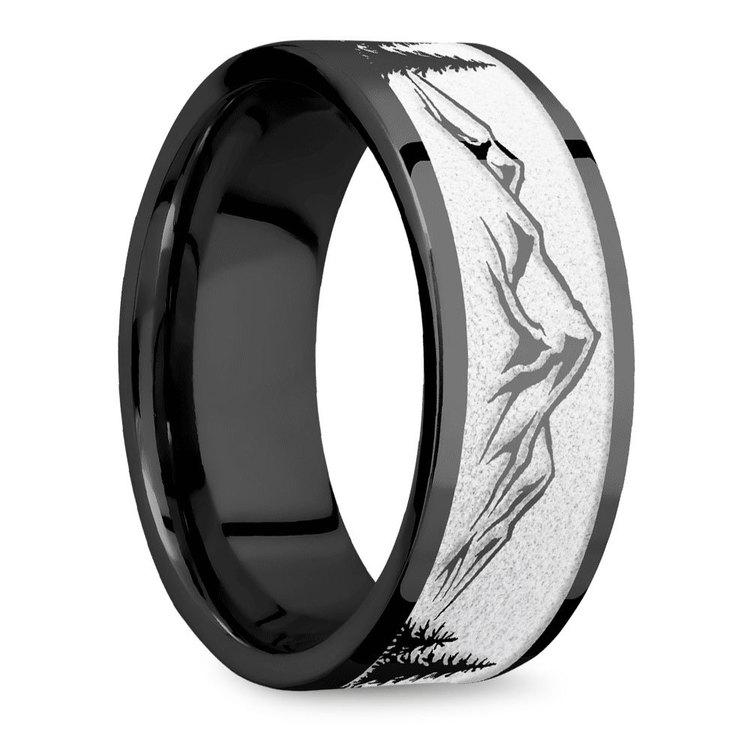The Rockies - Zirconium Mens Ring | 02