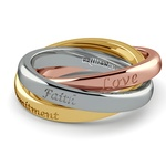 Rolling Tri-Tone Wedding Band (2.5mm) | Thumbnail 05