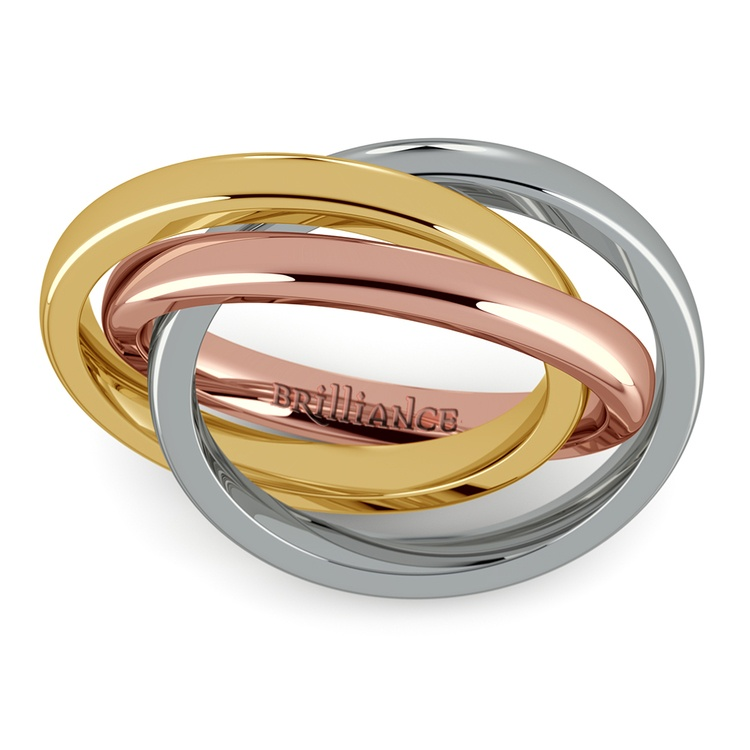 Rolling Tri-Tone Wedding Band (2.5mm) | 02