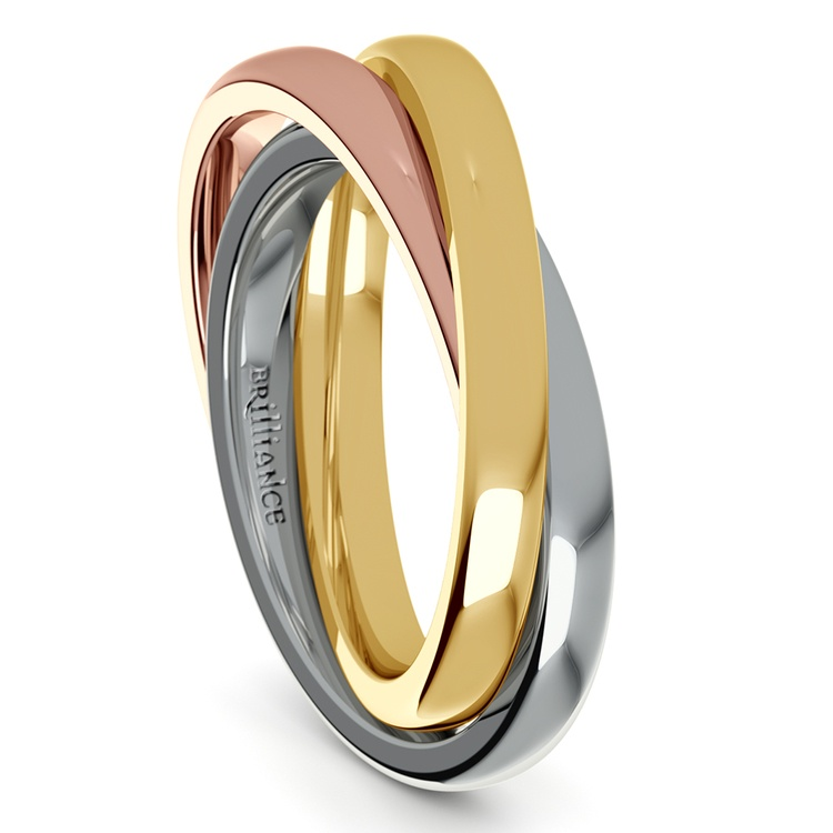 Rolling Tri-Tone Wedding Band (2.5mm) | 04