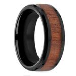 Rosewood Inlay Men's Wedding Ring in Blackened Cobalt   Thumbnail 02