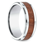 Rosewood Inlay Men's Wedding Ring in Cobalt | Thumbnail 02
