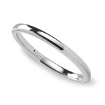 Round Wedding Ring in Tungsten (2mm) | Thumbnail 01
