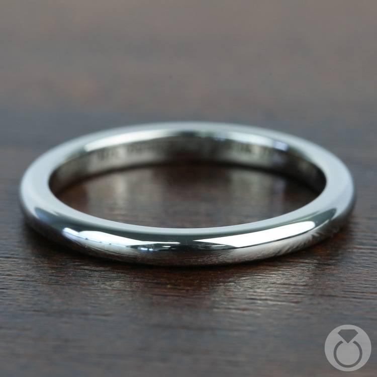 Round Wedding Ring in Tungsten (2mm) | 04