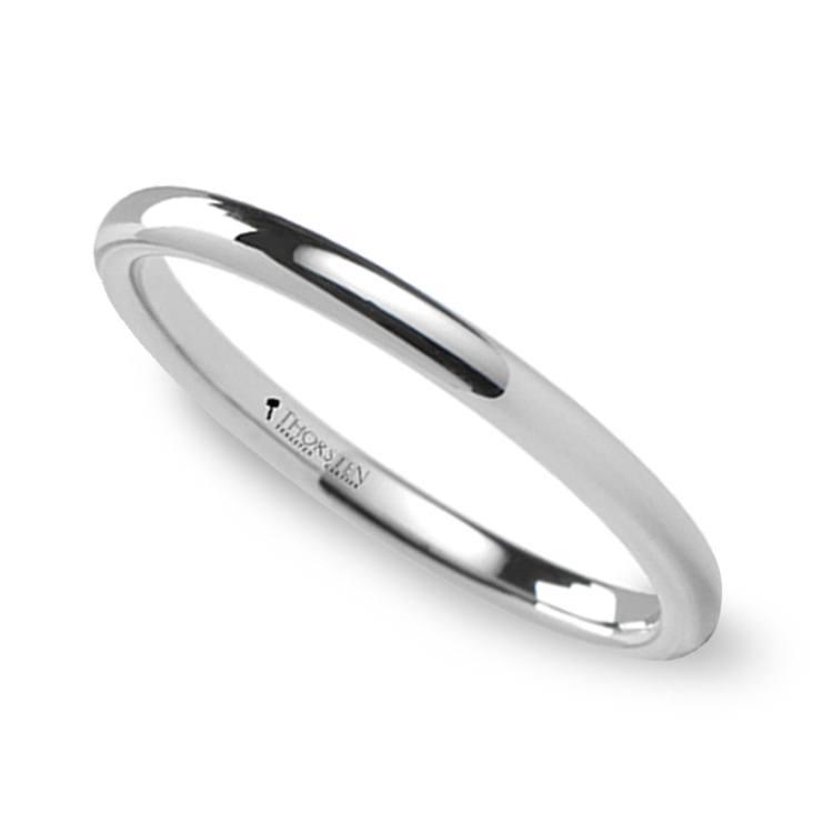 Round Wedding Ring in Tungsten (2mm) | 01