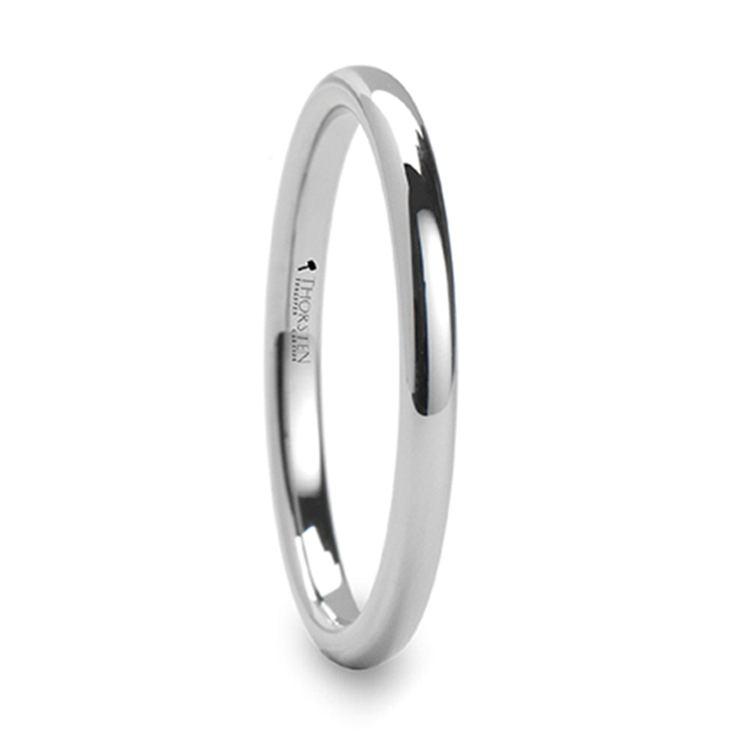 Round Wedding Ring in Tungsten (2mm) | 02