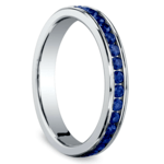 Channel Sapphire Eternity Ring in Platinum | Thumbnail 02