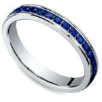 Channel Sapphire Eternity Ring in White Gold | Thumbnail 01