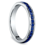 Channel Sapphire Eternity Ring in White Gold | Thumbnail 02