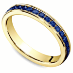 Channel Sapphire Eternity Wedding Ring in Yellow Gold | Thumbnail 01