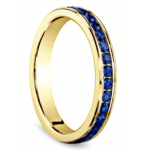 Channel Sapphire Eternity Wedding Ring in Yellow Gold | Thumbnail 02