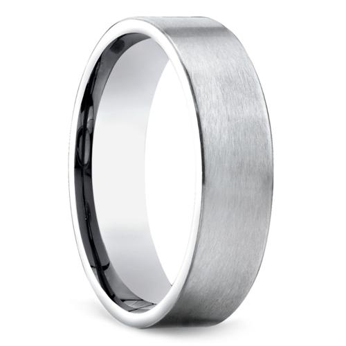 satin mens wedding ring in palladium - Palladium Wedding Rings