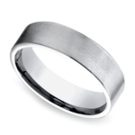 Satin Men's Wedding Ring in Platinum | Thumbnail 01