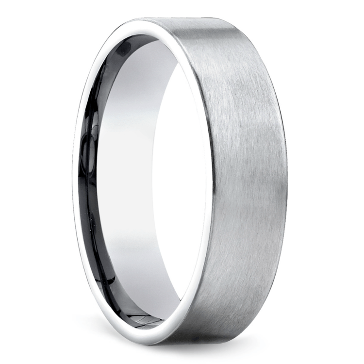 Satin Men's Wedding Ring in Platinum | 02