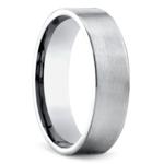 Satin Men's Wedding Ring in White Gold | Thumbnail 02