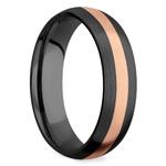 Satin Rose Inlay Wedding Ring in Zirconium | Thumbnail 02