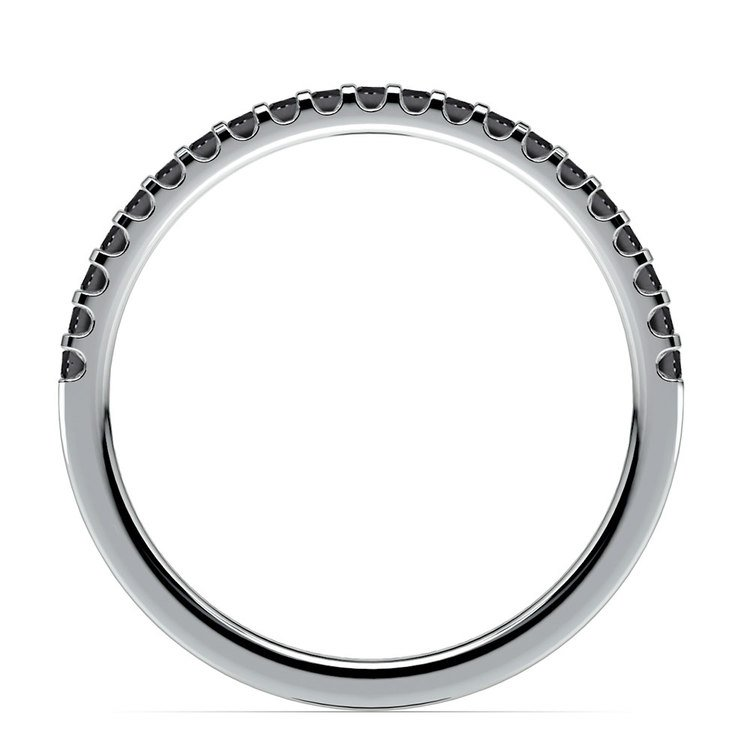 Scallop Black Diamond Wedding Ring in Platinum (1/4 ctw) | 03