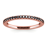 Scallop Black Diamond Wedding Ring in Rose Gold (1/4 ctw) | Thumbnail 02
