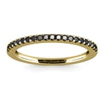 Scallop Black Diamond Wedding Ring in Yellow Gold (1/4 ctw) | Thumbnail 02