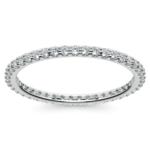 Scallop Diamond Eternity Ring in Palladium | Thumbnail 02