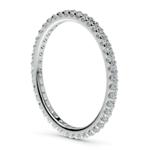 Scallop Diamond Eternity Ring in Palladium | Thumbnail 04