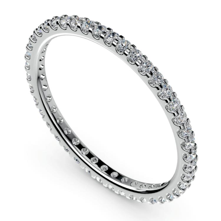 Scallop Diamond Eternity Ring in Palladium | 01