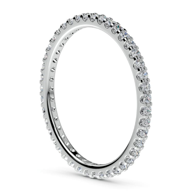 Scallop Diamond Eternity Ring in Palladium | 04