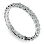 Scallop Diamond Eternity Ring in Platinum (1 ctw) | Thumbnail 01