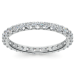 Scallop Diamond Eternity Ring in Platinum (1 ctw) | Thumbnail 02