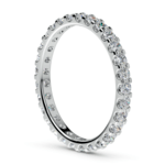 Scallop Diamond Eternity Ring in Platinum (1 ctw) | Thumbnail 04