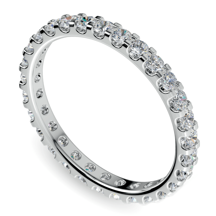 Scallop Diamond Eternity Ring in Platinum (1 ctw) | 01