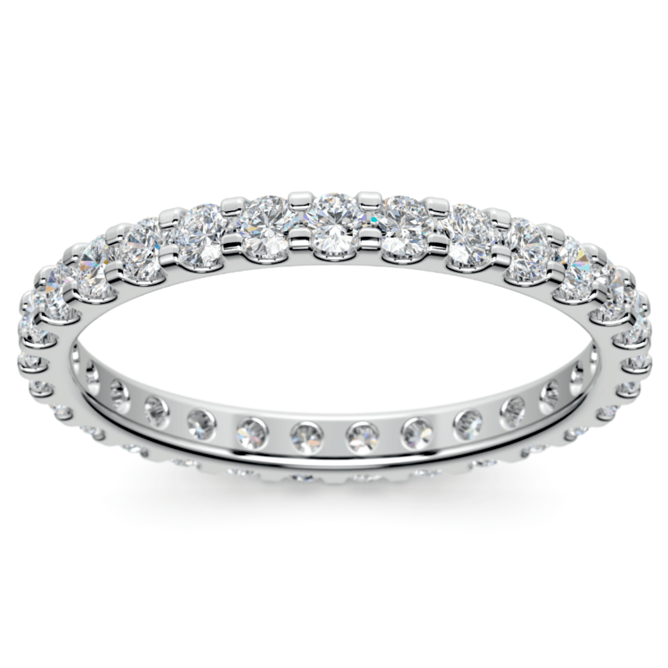 Scallop Diamond Eternity Ring in Platinum (1 ctw) | 02