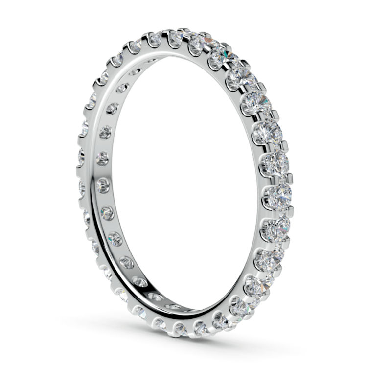 Scallop Diamond Eternity Ring in Platinum (1 ctw) | 04