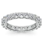 Scallop Diamond Eternity Ring in Platinum (2 ctw) | Thumbnail 02