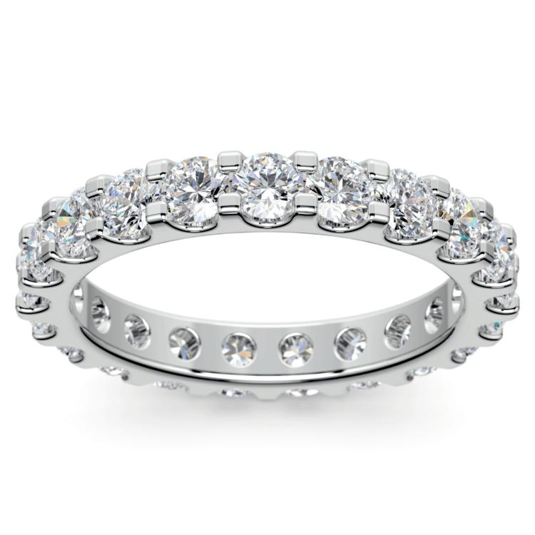 Scallop Diamond Eternity Ring in Platinum (2 ctw) | 02