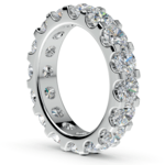Scallop Diamond Eternity Ring in Platinum (4 ctw) | Thumbnail 04