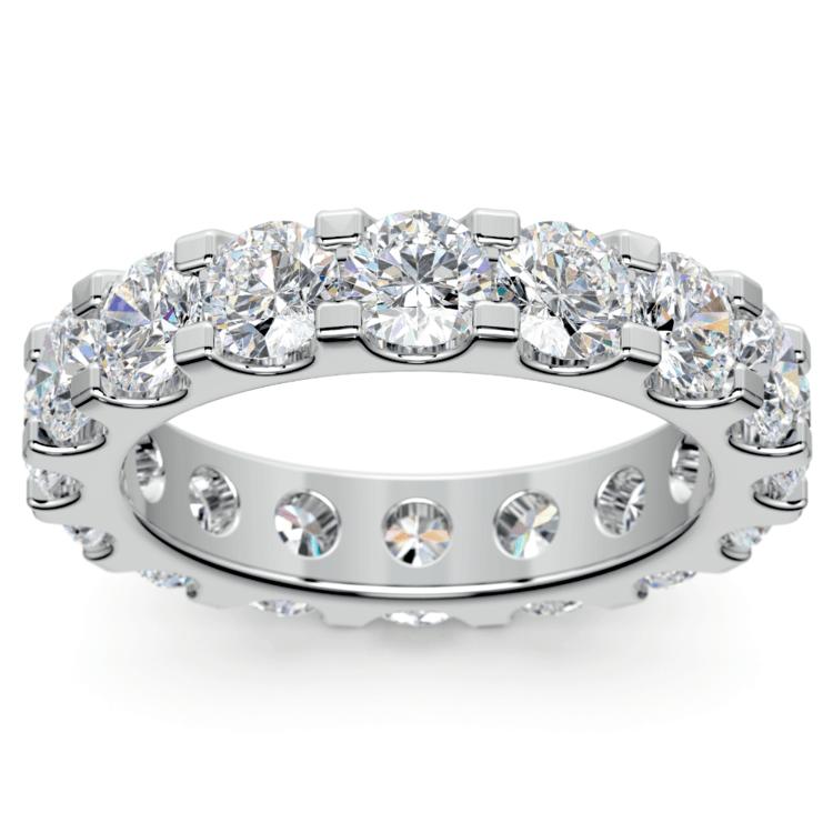 Scallop Diamond Eternity Ring in Platinum (4 ctw) | 02