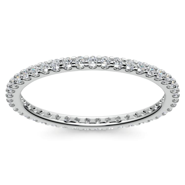 Scallop Diamond Eternity Ring in Platinum | 02